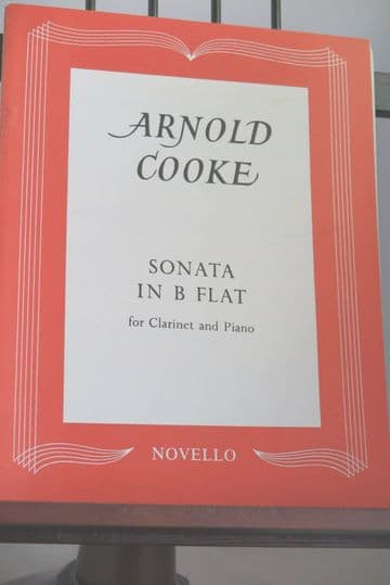 Cooke A - Sonata in B Flat for Clarinet and Piano